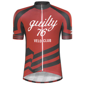 guilty 76 racing Velo Club Pro Race Jersey Uomo, red